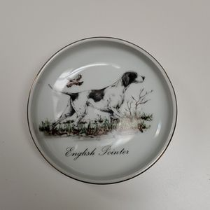 Vintage English Pointer Dog Trinket Dish